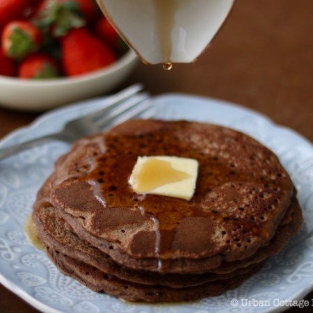 Chocolate Buckwheat Pancakes ❘ © UrbanCottageLife.com
