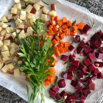 Roasted Beet, Potato & Bean Salad ❘ © UrbanCottageLife.com