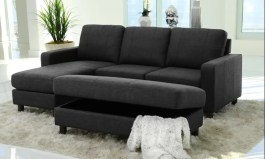 Urban Asker 90″ Wide Reversible Modular Sofa & Chaise with Ottoman