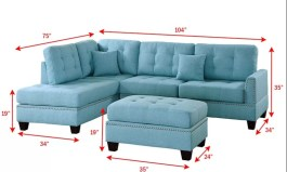 Urban Romulus 104″ Wide Reversible Sofa & Chaise with Ottoman by Urban Couch