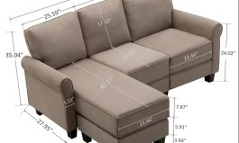 Urban hao 78.8″ Wide Reversible Sofa & Chaise with Ottoman by Urban Couch