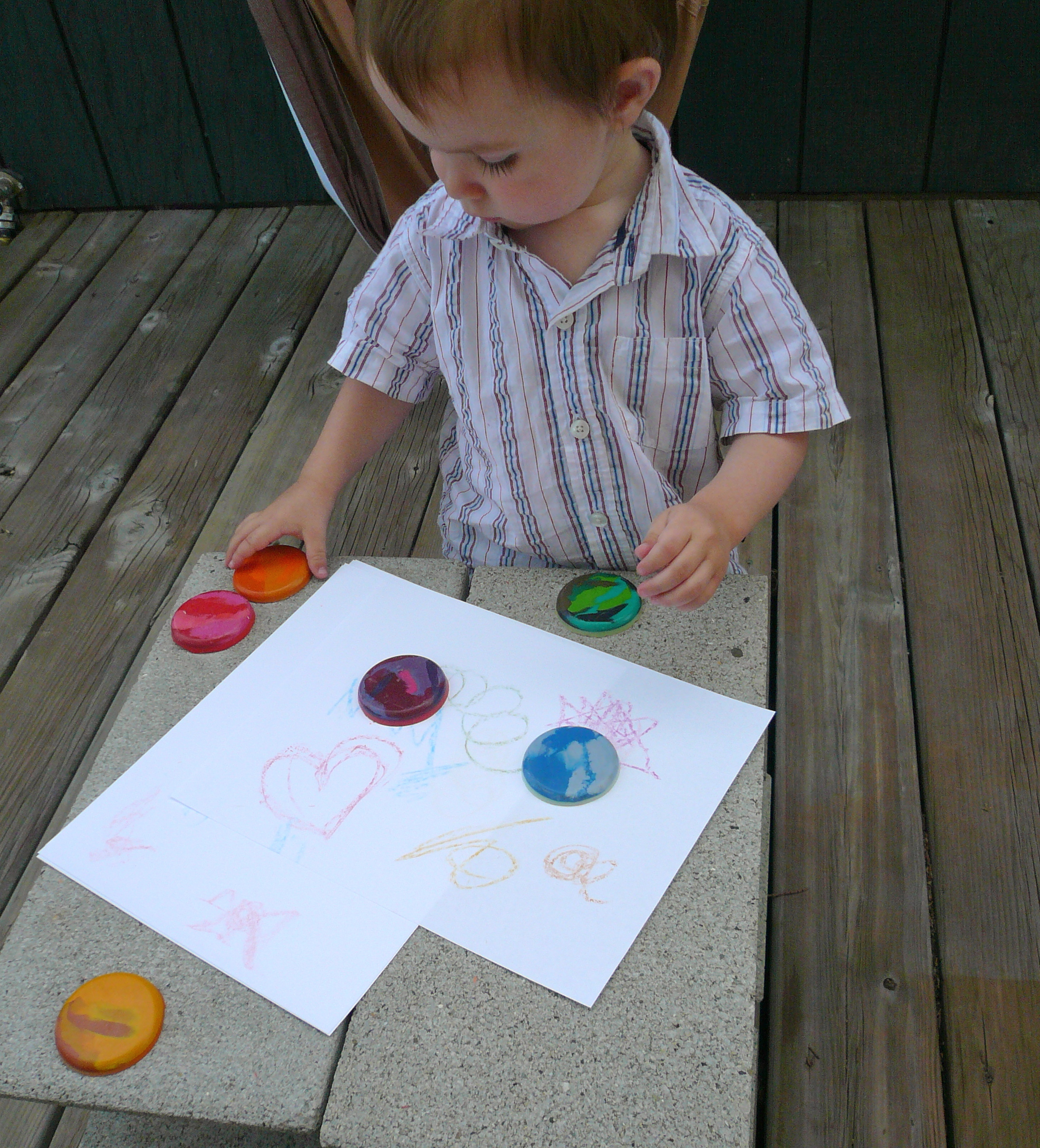 crayon disks in action
