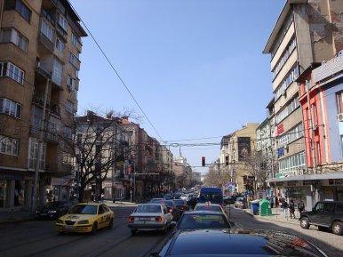 Photo of current streetscape on бул. Княз Александър Дондуков (Courtesy of Old Sofia Blog)