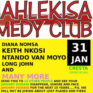 UMAHLEKISA comedy bulawayo January show...