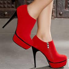 red stilletos