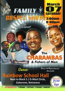 Poster of the recent concert on which he perfomed alongside The Charambas