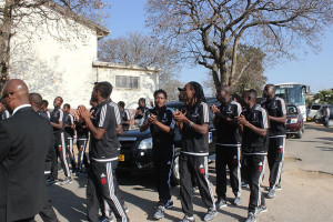 Bosso Players Arrive at Mcdonald Hall