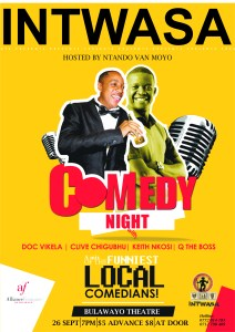Comedy Night will be a Intwasa Arts Festival KoBulawayo event