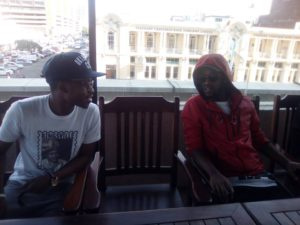A Lighter Moment @IamCal_Vin with @KidXSA