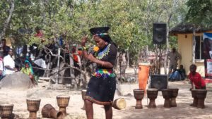 Poet Entertaining Guests at Amagugu