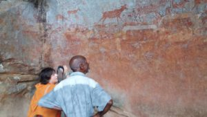 Gina has also explored the Matobo National Park landscape and it's beautiful cave paintings