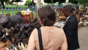 She has visited the open craft market at Bulawayo City Hall