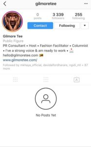 Gilmore Tee wipes off ALL Instagram Posts With No Warning