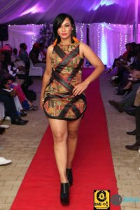 Model in a design by Yvette Ndaba #Sishebo EVE-O!