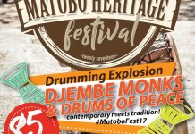 A key feature of the #MatoboFest17 will be the Drumming Explosion featuring @TheDjembeMonks and Drums of Peace
