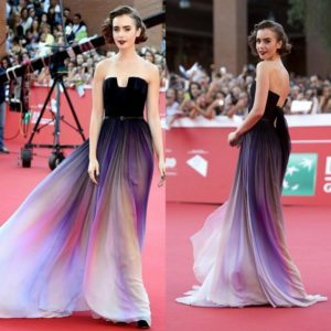 Lily Collins on the ombre tend (PIC: ONLINE)