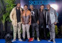 Local Filmmakers at the Black Panther Launch in Bulawayo : Picture by FMG