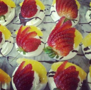 Strawberry and Orange Pavlova