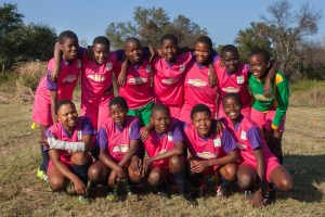 Girls team from pashu high who went up to the semi finals