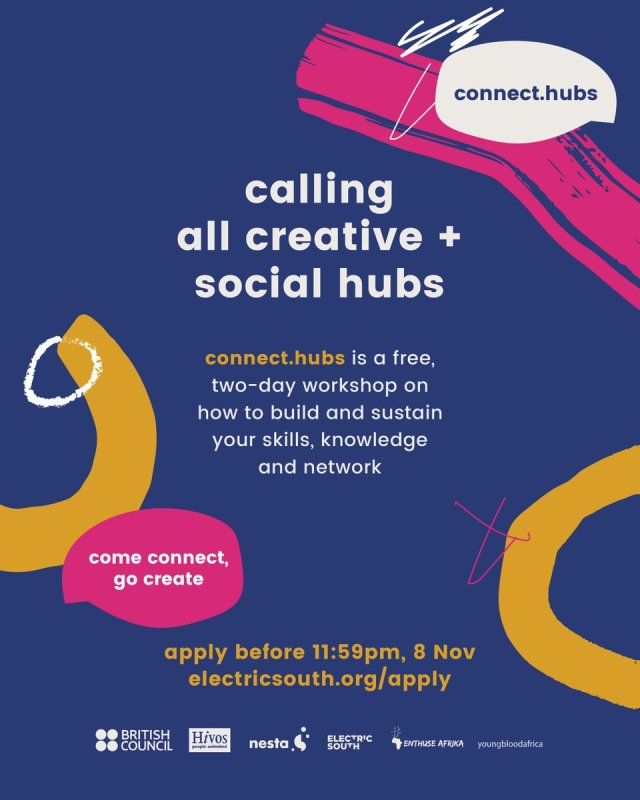 APPLY NOW for #connecthubs training! -> http://bit.ly/connecthubs Application Deadline: 8 November 11:59 pm.