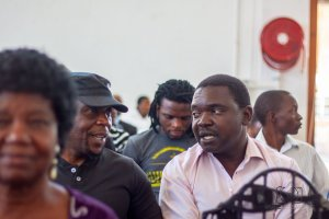 Artists following procedings at the Stakeholders meeting held in Bulawayo on Thursday