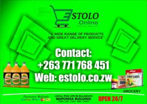 """""""A wide range of products and great delivery service"""" Visit www.estolo.co.zw"""