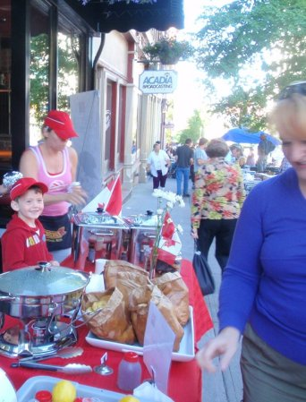 Happy people in Uptown Saint John on Canada Day, 2010