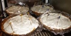 Pies waiting to be enjoyed