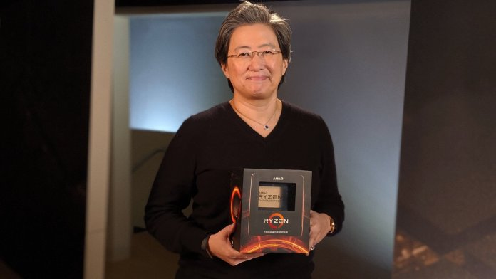 Dr Lisa Su With Ryzen Threadripper 3000 Series