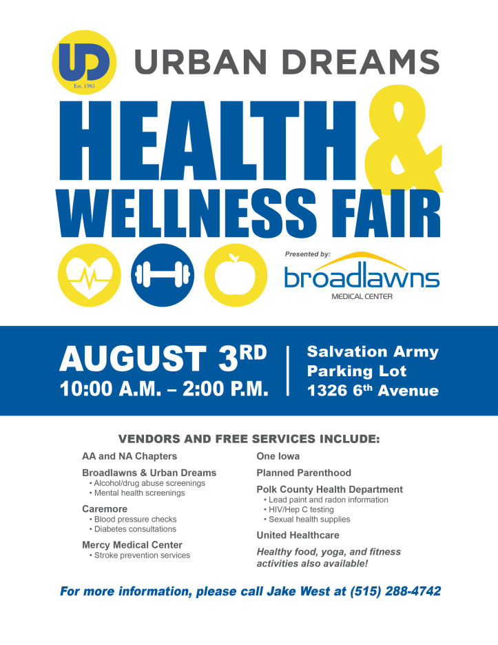 Urban Dreams Health Fair from blawns flyer