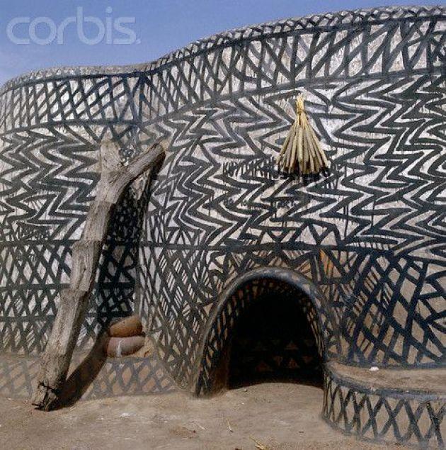 Kassena Tribal Pattern Huts