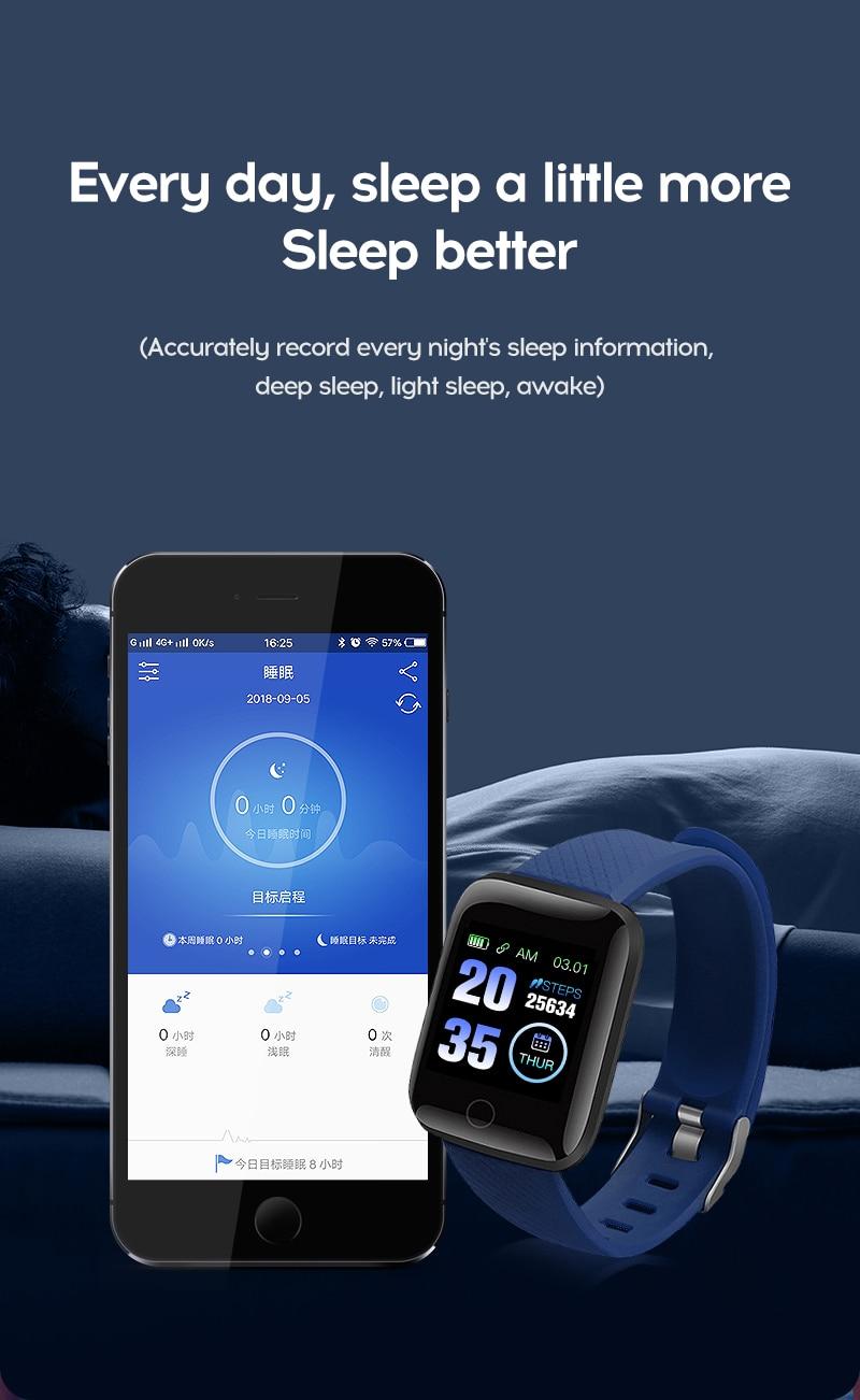 Smart Watch 116 Plus Wristband Fitness Blood Pressure Heart Rate Android Pedometer D13 Waterproof Sports Smart Watch Band Z2