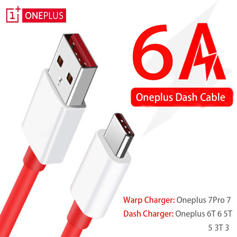 Oneplus 7 pro 7 Original Warp Quick Charger cable 6A Dash Fast USB Type-C data cable for One plus 6T 6 5T 5 Smart phone