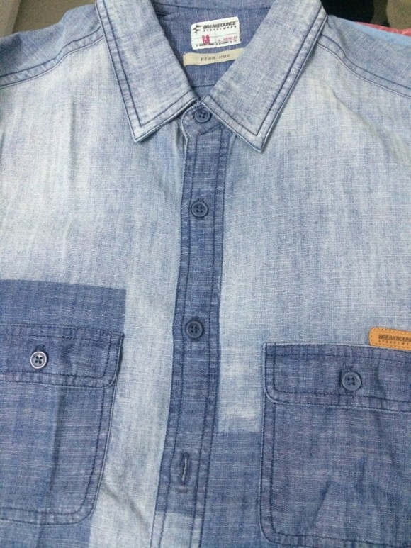 Love the effect of this two-toned denim shirt.