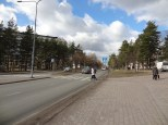 In Kontula the streets are very wide. I'm not really convinced four lanes are necessary here.