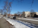 Just a few hundred meters from the station in Malmi. Open streetscapes.