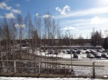 Picture taken from the platform at Pukinmäki train station.