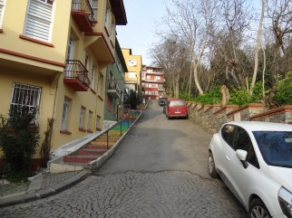 Colorful steps in Üsküdar.