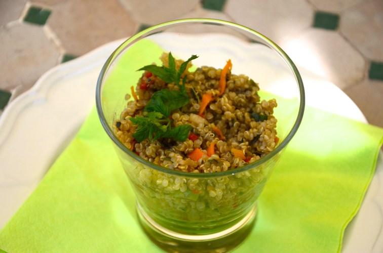 Green quinoa tabouli