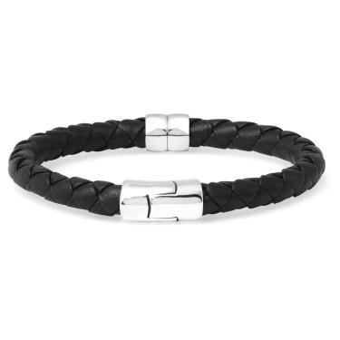 Bottega Veneta - Leather & Silver Bracelet