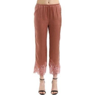 Ermano Scervino - Lace & Silk Satin Pants