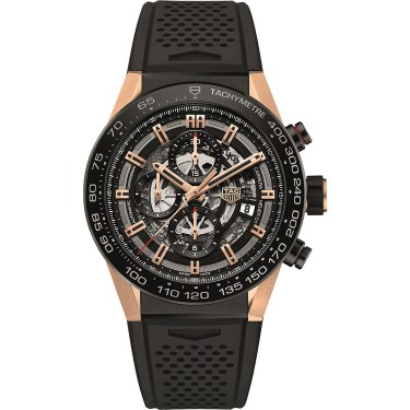 Tag Heuer - Tag Heuer - CAR2A5A.FT6044 Carrera Titanium & Rose-Gold Watch