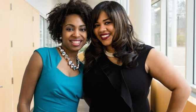 Myavana creators Candace Mitchell and  Chanel Martin