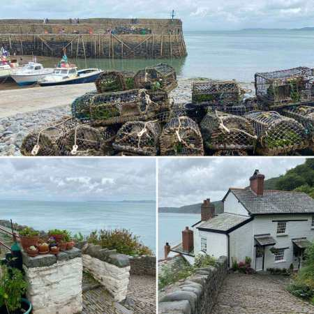 Clovelly seaside village frozen in time