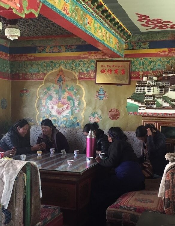 Dining with locals, Tibet
