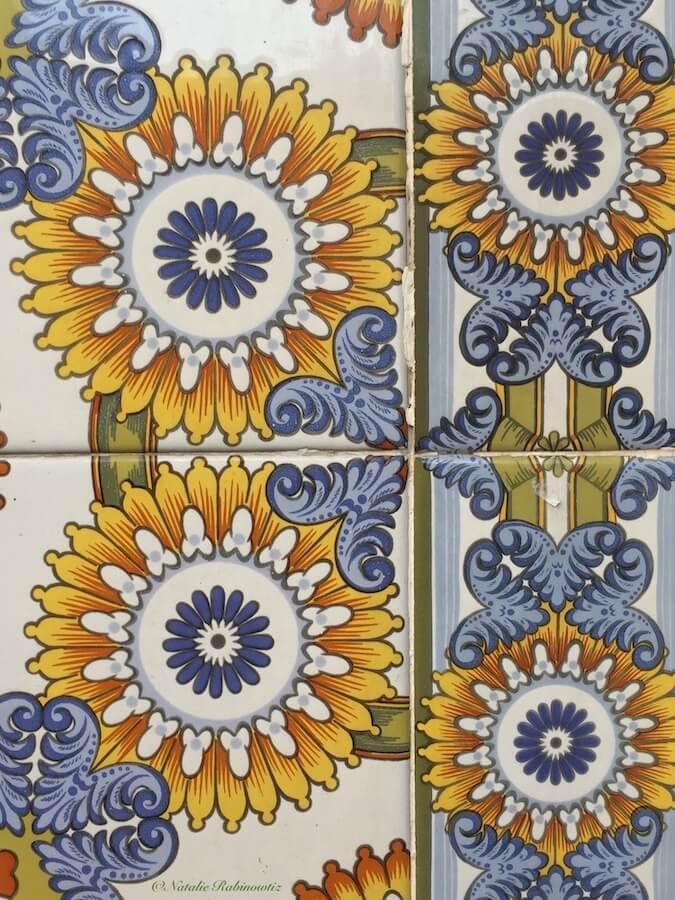 Tile in Granada, Spain