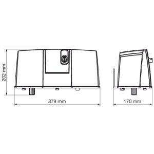 blitz swing gate motor dimensions