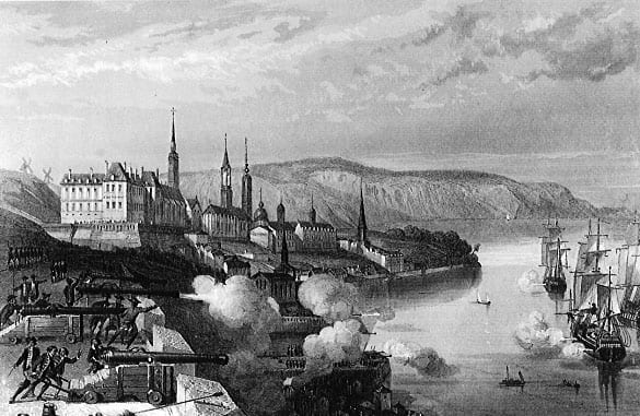 Fortifications of Quebec, the Battle of Quebec 1690 | National Archives of Canada (C6022). - cmhg.gc.ca