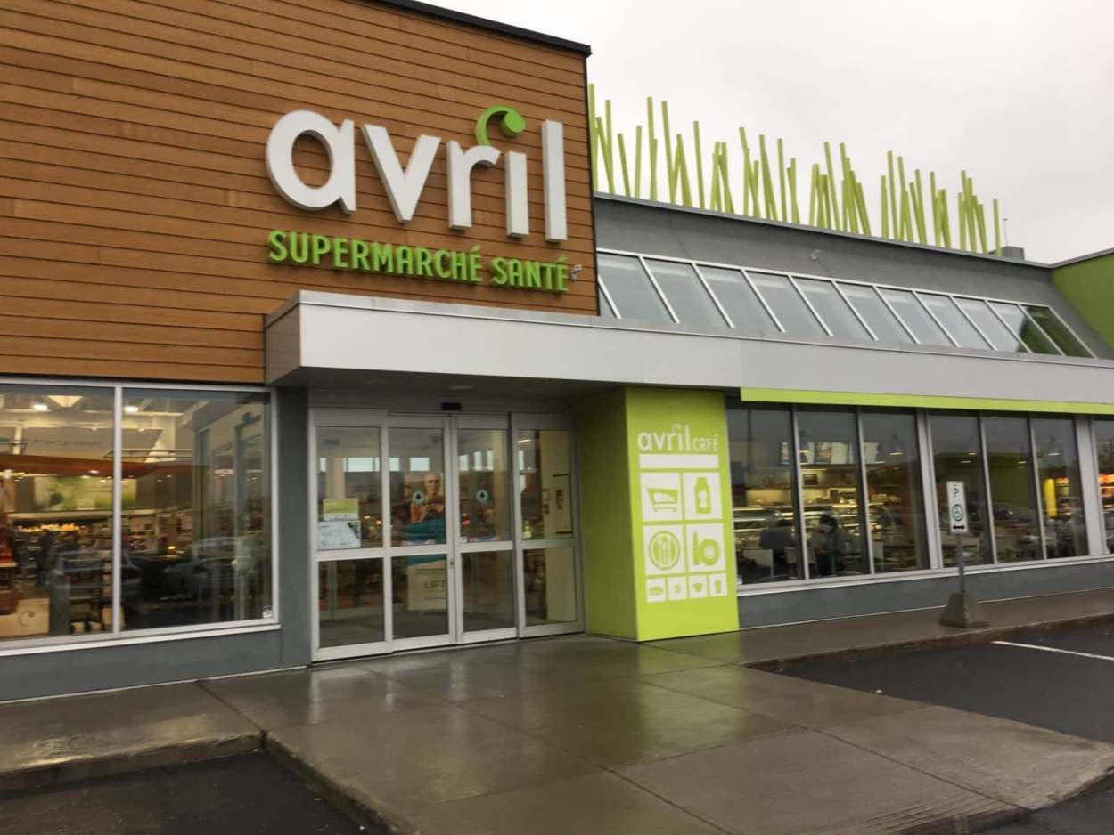 Avril, a healthy grocery store in Quebec City