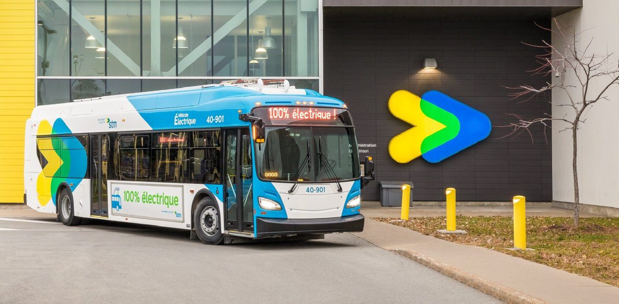 Electric bus in Montreal [photo credit: STM]